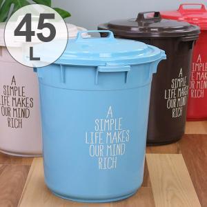 ゴミ箱 カラーペール ふた付き 45L 丸型 日本製 ( ごみ箱 屋外 ダストボックス 蓋 フタ 付き )の写真