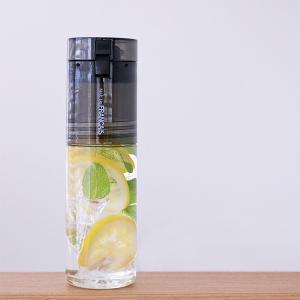 水筒 ウォーターボトル トライタンボトル 500ml 2WAY コップ付き ( 直飲み水筒 ワンタッチオープン クリアボトル )|livingut|08