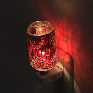 照明 アロマランプ モザイク アロマライト コンセント型 ( ライト 足元 間接 コンセントライト 足元 フットランプ )|livingut|06