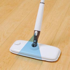 スプレーモップ 本体 フローリング 水拭き スプレーフロアモップ ( 掃除用品 マイクロファイバー 床 ワイパー )|livingut|04