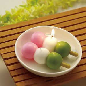 お団子キャンドル(笹) ( キャンドル ローソク ろうそく )|livingut