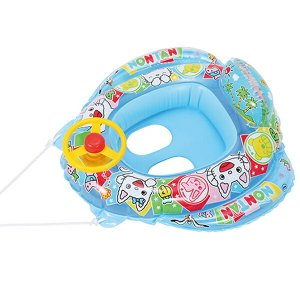 みんな大好きなノンタンの脚入れタイプのビニールボートです。ハンドル付きでお子様も楽しんで遊べそうです...