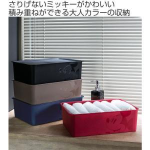 収納ボックス ふた付き レギュラーサイズ ミッキーマウス スクエアBOX ( 収納ケース 収納 小物入れ カラーボックス ) livingut 02