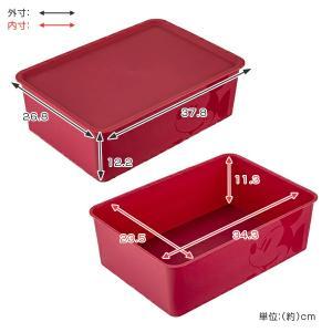 収納ボックス ふた付き レギュラーサイズ ミッキーマウス スクエアBOX ( 収納ケース 収納 小物入れ カラーボックス ) livingut 05