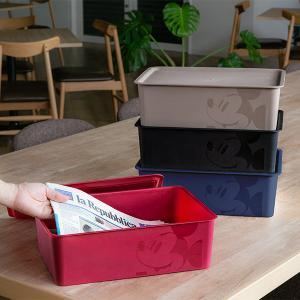 収納ボックス ふた付き レギュラーサイズ ミッキーマウス スクエアBOX ( 収納ケース 収納 小物入れ カラーボックス ) livingut 06