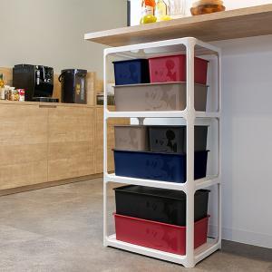 収納ボックス ふた付き レギュラーサイズ ミッキーマウス スクエアBOX ( 収納ケース 収納 小物入れ カラーボックス ) livingut 09