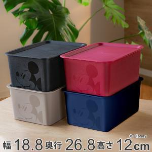 収納ボックス ふた付き ハーフサイズ ミッキーマウス スクエアBOX ( 収納ケース 収納 小物入れ カラーボックス )|livingut