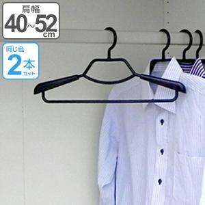 ハンガー ベストライン 形態安定シャツ用ハンガー ブラック 2本組 ( 衣類ハンガー シャツハンガー 衣類収納 )|livingut