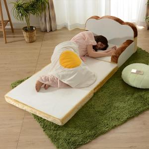 ソファーベッド 食パン型 ソファ 幅80cm ( 食パン型ソファ 食パンソファ 2WAY )