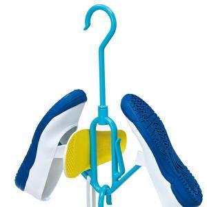 洗濯ハンガー インソールも干せる シューズハンガー ( ハンガー 洗濯 物干しハンガー )|livingut