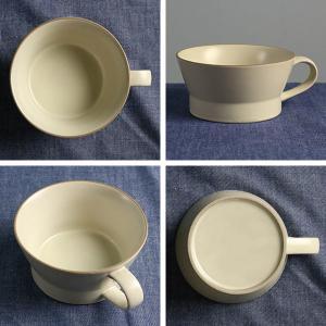 スープカップ エッジライン 持ち手付き 陶器 食器 ( 食洗機対応 電子レンジ対応 スープボウル 小鉢 )|livingut|03
