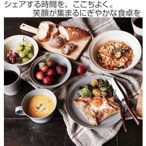 プレート 20cm M エッジライン 陶器 食器 同色5枚セット ( 食洗機対応 電子レンジ対応 ケーキ デザート 皿 ) livingut 02