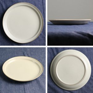 プレート 20cm M エッジライン 陶器 食器 同色5枚セット ( 食洗機対応 電子レンジ対応 ケーキ デザート 皿 ) livingut 03