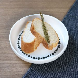 プレート M 16cm ドット 白 磁器 食器 ( 食洗機対応 電子レンジ対応 ケーキ デザート 皿 )|livingut|03