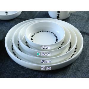 プレート M 16cm ドット 白 磁器 食器 ( 食洗機対応 電子レンジ対応 ケーキ デザート 皿 )|livingut|05