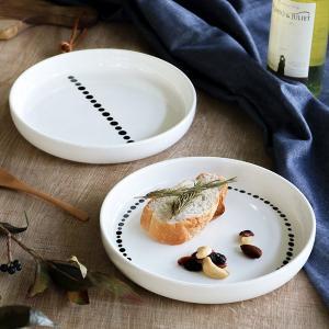 プレート L 20cm ドット 白 磁器 食器 ( 食洗機対応 電子レンジ対応 ケーキ デザート 皿...
