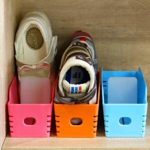 くつホルダー スリム 靴 収納 省スペース チビホルダー 子供用 仕切り付き ( 靴ホルダー ホルダー くつ クツ 整理 整頓 )の写真