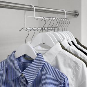 ハンガー 衣類収納アップハンガー 2本組 ( 収納 衣類ハンガー ハンガーラック コート収納 段違い ) livingut 11