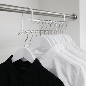 ハンガー 衣類収納アップハンガー 2本組 ( 収納 衣類ハンガー ハンガーラック コート収納 段違い ) livingut 12