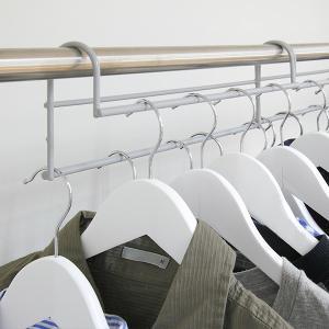 ハンガー 衣類収納アップハンガー 2本組 ( 収納 衣類ハンガー ハンガーラック コート収納 段違い ) livingut 14