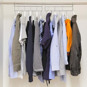 ハンガー 衣類収納アップハンガー 2本組 ( 収納 衣類ハンガー ハンガーラック コート収納 段違い ) livingut 16