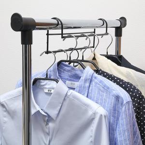 ハンガー 衣類収納アップハンガー 2本組 ( 収納 衣類ハンガー ハンガーラック コート収納 段違い ) livingut 10