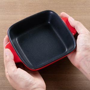 グラタン皿 角型 19cm フッ素加工 皿 プレート 耐熱皿 陶磁器 食器 ( オーブン 電子レンジ 対応 洋食器 耐熱 角皿 )|livingut|07