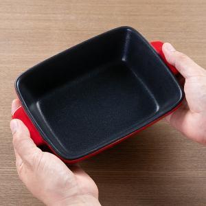 グラタン皿 角型 23cm フッ素加工 皿 プレート 耐熱皿 陶磁器 食器 ( オーブン 電子レンジ 対応 洋食器 耐熱 角皿 )|livingut|06