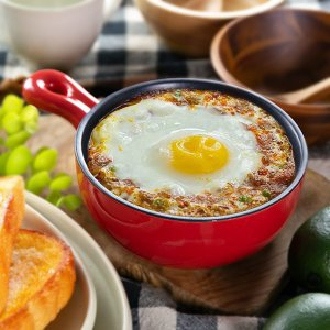 グラタン皿 丸型 23cm フッ素加工 手付き 皿 プレート 耐熱皿 陶磁器 食器 ( オーブン 電子レンジ 対応 洋食器 耐熱 丸皿 )|livingut