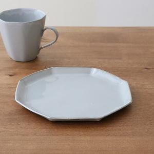 プレート 19cm 洋食器 アミューズ 陶器 食器 笠間焼 日本製 ( 食洗機対応 電子レンジ対応 皿 お皿 取り皿 八角形 )|livingut|11