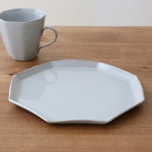 プレート 22cm 洋食器 アミューズ 陶器 食器 笠間焼 日本製 ( 食洗機対応 電子レンジ対応 皿 お皿 八角形 )|livingut|11