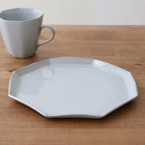 プレート 22cm 洋食器 アミューズ 陶器 食器 笠間焼 日本製 ( 食洗機対応 電子レンジ対応 皿 お皿 八角形 )|livingut|12