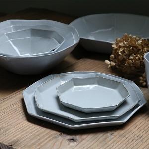 プレート 22cm 洋食器 アミューズ 陶器 食器 笠間焼 日本製 ( 食洗機対応 電子レンジ対応 皿 お皿 八角形 )|livingut|14