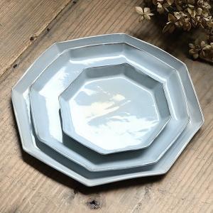 プレート 22cm 洋食器 アミューズ 陶器 食器 笠間焼 日本製 ( 食洗機対応 電子レンジ対応 皿 お皿 八角形 )|livingut|15