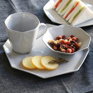 プレート 22cm 洋食器 アミューズ 陶器 食器 笠間焼 日本製 ( 食洗機対応 電子レンジ対応 皿 お皿 八角形 )|livingut|05