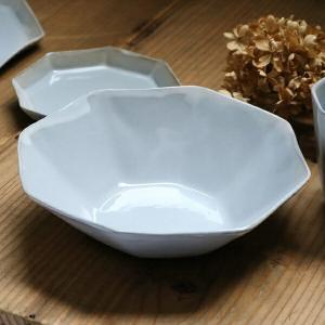 ボウル 19cm 洋食器 アミューズ 陶器 食器 笠間焼 日本製 ( 食洗機対応 電子レンジ対応 皿 お皿 八角形 )|livingut