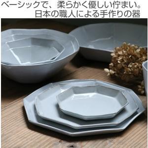 ボウル 19cm 洋食器 アミューズ 陶器 食器 笠間焼 日本製 ( 食洗機対応 電子レンジ対応 皿 お皿 八角形 )|livingut|02