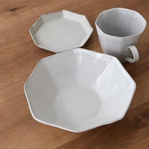 ボウル 19cm 洋食器 アミューズ 陶器 食器 笠間焼 日本製 ( 食洗機対応 電子レンジ対応 皿 お皿 八角形 )|livingut|12