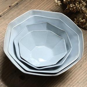 ボウル 19cm 洋食器 アミューズ 陶器 食器 笠間焼 日本製 ( 食洗機対応 電子レンジ対応 皿 お皿 八角形 )|livingut|13