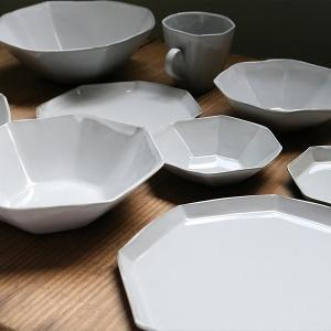 ボウル 19cm 洋食器 アミューズ 陶器 食器 笠間焼 日本製 ( 食洗機対応 電子レンジ対応 皿 お皿 八角形 )|livingut|07
