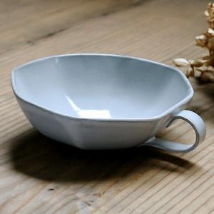 スープカップ 330ml アミューズ 陶器 食器 笠間焼 日本製 ( 食洗機対応 カップ 電子レンジ対応 マグ スープマグ 八角形 )|livingut