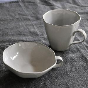スープカップ 330ml アミューズ 陶器 食器 笠間焼 日本製 ( 食洗機対応 カップ 電子レンジ対応 マグ スープマグ 八角形 )|livingut|11