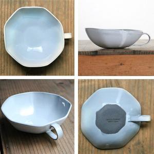 スープカップ 330ml アミューズ 陶器 食器 笠間焼 日本製 ( 食洗機対応 カップ 電子レンジ対応 マグ スープマグ 八角形 )|livingut|03