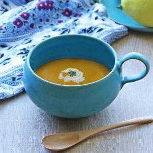 優しいトルコ青(トルコブルー)のスープカップです。1点1点、日本の職人による手作りで生産されたこだわ...
