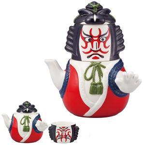 急須 湯呑み セット 歌舞伎 ティーポット 陶器 食器 ( 食洗機対応 コップ 電子レンジ対応 ポット )|livingut
