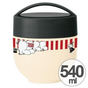 保温弁当箱 ランチボックス どんぶり型 コンパクトタイプ ムーミン ストライプ 540ml ( 丼 麺 お弁当箱 保温 保冷 )の画像