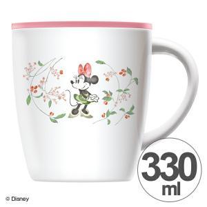 マグカップ ミニーマウス カフェマグ 真空断熱構造 ステンレス製 330ml フタ付き キャラクター ( 保温 保冷 ステンレスマグカップ カップ コップ 食器 )|livingut