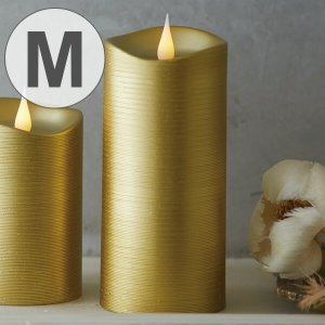 LEDキャンドル エンキンドルラインピラー M ゴールド ( キャンドルライト キャンドル ライト )|livingut