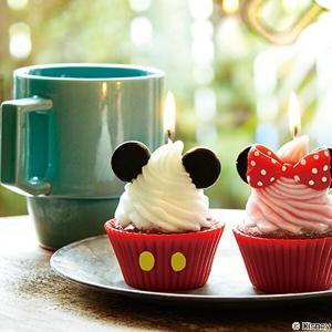 キャンドル ろうそく ディズニー カップケーキキャンドル ミッキー ( ローソク ロウソク スイーツキャンドル )|livingut