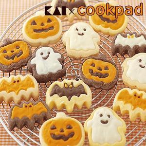 クッキー型 ハロウィン チョコクッキー型 コウモリ かぼちゃ おばけ ( クッキー 型 抜型 クッキー抜型 チョコ デコスイーツ )|livingut